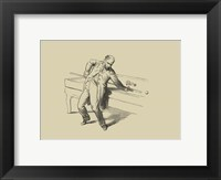 Pool Hall Antics V Framed Print