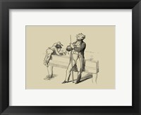Pool Hall Antics VI Framed Print
