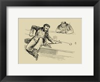 Pool Hall Antics VII Framed Print