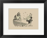 Pool Hall Antics VIII Framed Print