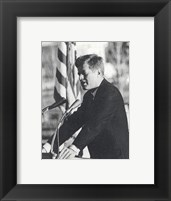 Framed JFK Visit