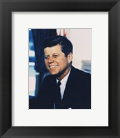 Framed John F. Kennedy, White House Color Photo Portrait