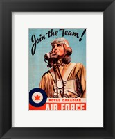 Framed Join the Team RCAF