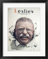 Framed Leslies Illustrated Weekly Newspaper Nov. 1916 Teddy Roosevelt