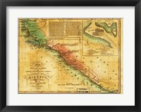 Framed Map of West Coast of Africa 1830