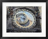 Framed Prague - Astronomical Clock Detail