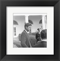 Framed President KennedyGreets Latin American Archivists