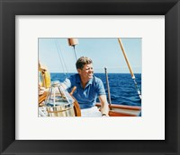 Framed President Kennedy Vacations at Hammersmith Farm