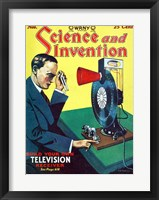 Framed Science and Invention Nov 1928 Cover