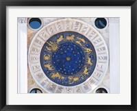 Framed St Marks Venice Clock