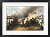 Framed Surrender of Lord Cornwallis