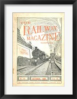 Framed Railway Magazine October 1901 Cover
