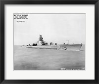 Framed USS Whale Early US  Submarine