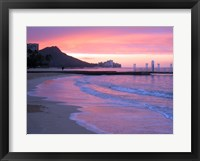 Framed Waikiki Beach Sunset