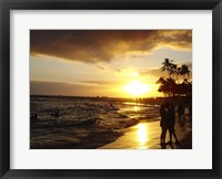 Framed Waikiki Beach at Sunset