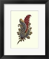 Framed Jacobean Leaf IV