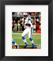 Framed Cam Newton 2011 Action