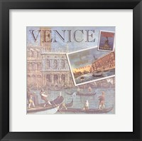 Travel Scrapbook V Framed Print