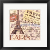 Travel Scrapbook IV Framed Print