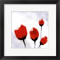 Red Drops V Framed Print