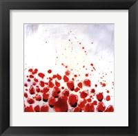 Framed Red Drops VIII