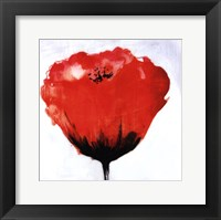 Red Drops IX Framed Print