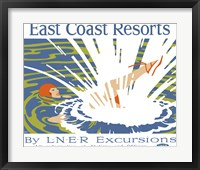 Framed East Coast Resorts - London & North Eastern Railway circa 1930