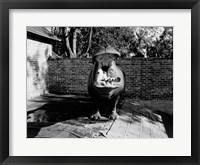 Framed USA, Louisiana, New Orleans, Hippopotamus in zoo yawning