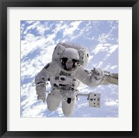 Framed Michael Gernhardt in Space During STS-69 in 1995