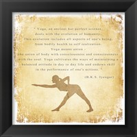 Yoga is a Perfect Science Framed Print