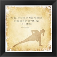 Yoga Exists Framed Print