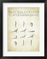 Framed Sun Salutation Chart