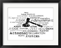 Framed Law Words