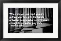 Framed Court Quote