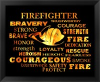 Framed Firefighter Words