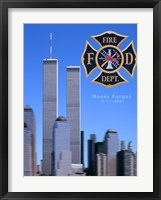 Framed 9/11 Never Forget
