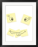 Framed Post- It Smiley Face