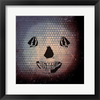 Framed Grunge Skull Smile