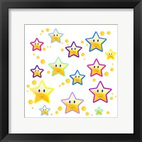 Happy Face Stars Framed Print