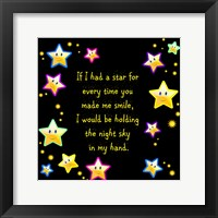If I had a Star Framed Print