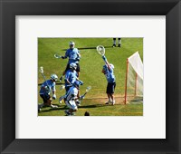 Framed Lacrosse Goalie