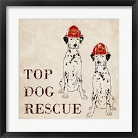 Framed Top Dog Rescue