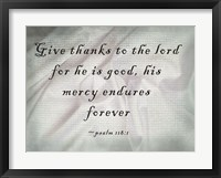 Framed Give Thanks to the Lord