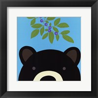 Peek-a-Boo Bear Framed Print