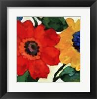 Framed Anemone Garden II