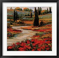 Hills In Bloom II Framed Print