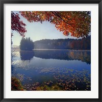 Framed Bass Lake in Autumn I