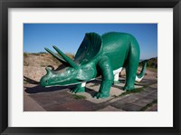 Framed Triceratops Sculpture