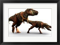 T Rex Pair Framed Print