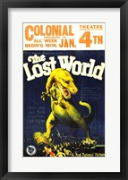 Framed Lost World Film Poster, 1925
